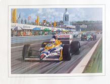NIGEL MANSELL Williams FW12 1988 GERMAN GP by MICHAEL TURNER
